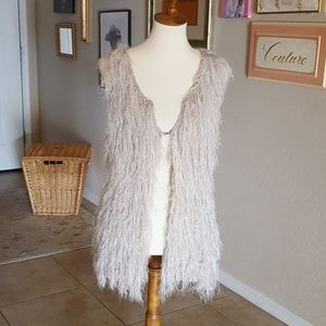 Vintage - Angora Fringe Sweater Vest